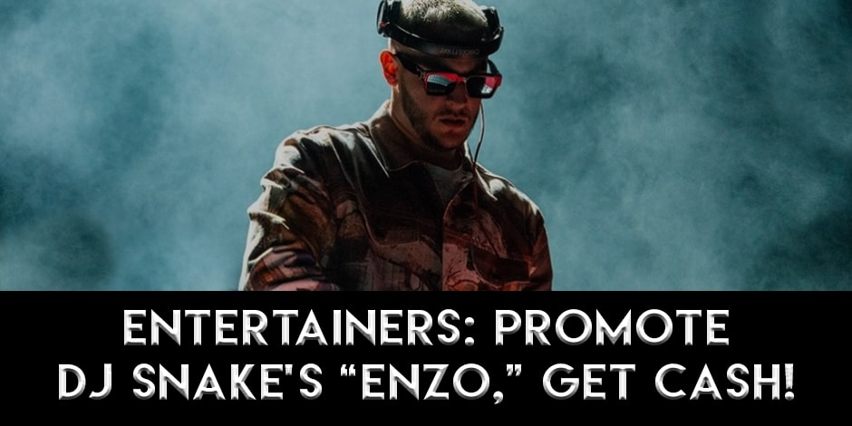 "StripJoint launches a DJ Snake ""Enzo"" Contest for the industry's entertainers — and $2,500 in cash prizes for YOU!"